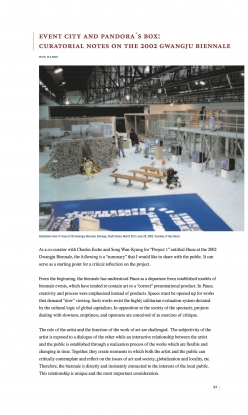Event City and Pandora's Box: Curatorial Notes on the 2002 Gwangju Biennale