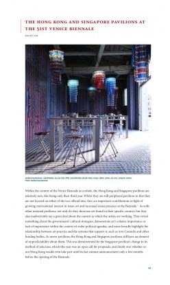 The Hong Kong and Singapore Pavilions at the 51st Venice Biennale